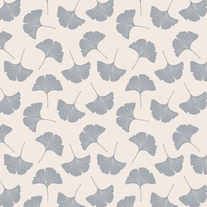 Minimal love ginkgo boho leaf garden japanese botanical spring leaves soft neutral nursery beige gray SMALL