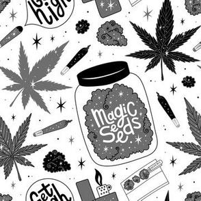 Magic seeds b&w