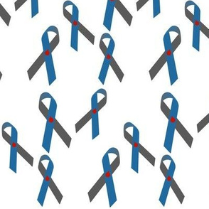 Small Scale Tossed T1D Awareness Ribbons