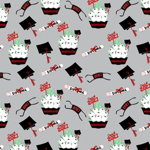Covid Graduation 2021 Black and Red TP