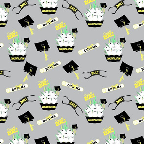 Covid Graduation 2021 Black and Yellow TP