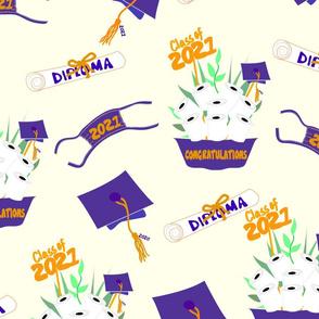 Covid Graduation 2021 Purple and Orange TP