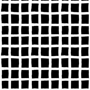 Grid Smaller: White and Black | Painterly Geometrics