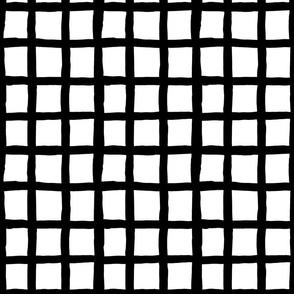 Grid Smaller: Black and White | Painterly Geometrics