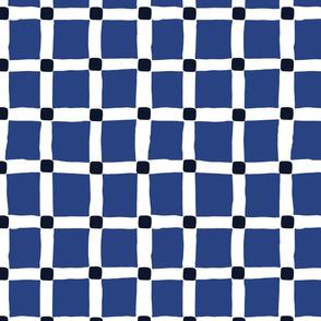 Grid Large: Blue | Painterly Geometrics