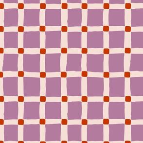 Grid Large: Mauve and Orange | Painterly Geometrics