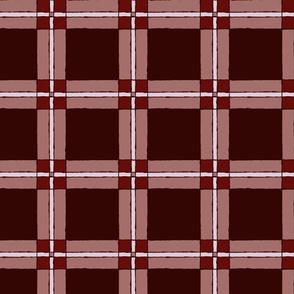 Tartan: Maroons | Painterly Geometrics