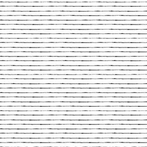 Stripes: White and Black | Painterly Geometrics