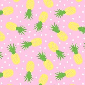 """(1.5"""" scale) pineapples - summer - pink - LAD20BS"""