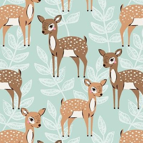 fawns // little deer // fawns and leaves