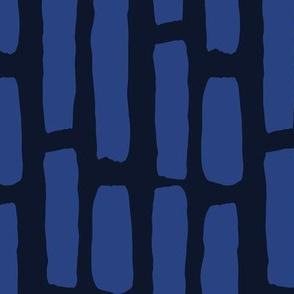 Wide Dashes Large: Blue | Painterly Geometrics