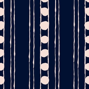 Lines and Circles: Navy | Painterly Geometrics