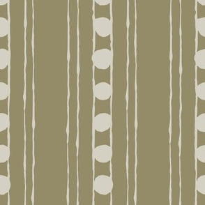 Lines and Circles: Olive | Painterly Geometrics