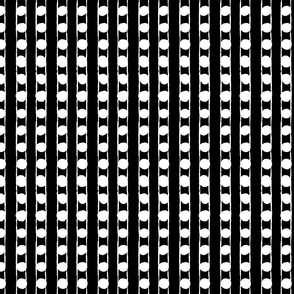 Vertical Spots: White on Black | Painterly Geometrics