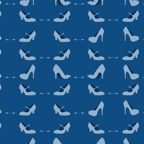 High heels, Shoes with distance arrow in blue scale
