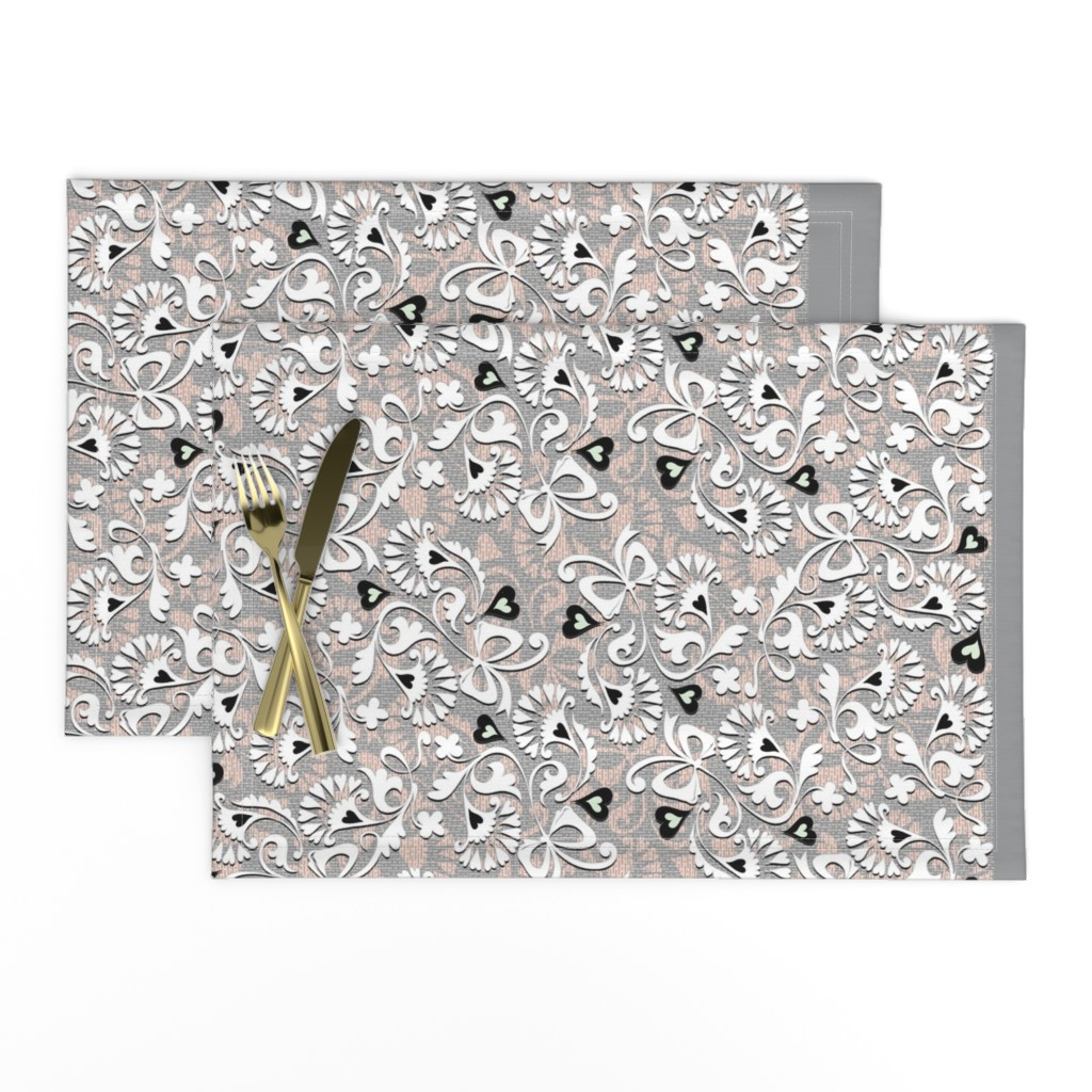 Lamona Cloth Placemats featuring Ribbons and Bows by spellstone