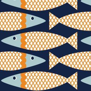"""Scalloped Bass - Orange Malibu 7"""""""