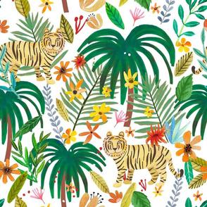 """16"""" Jungle Tiger - White"""