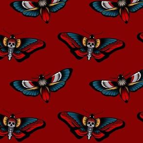 Skull Butterfly tattoo print