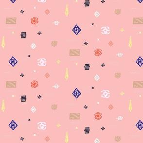 Kilim Motifs Pink
