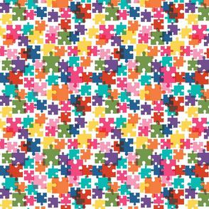 Autism Awareness Multicolor Puzzle Pieces