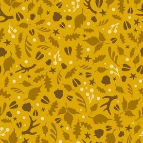 Deerly Beloved - mustard