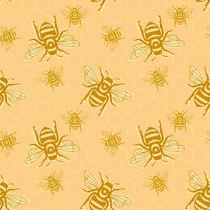Smaller Bees - orange sherbet
