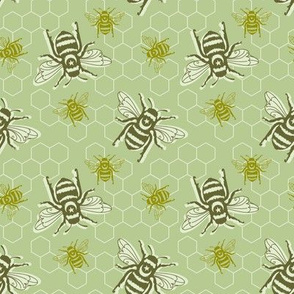 Smaller Bees - green