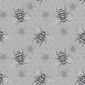 Smaller Bees - grayscale
