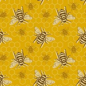 Smaller Bees - mustard