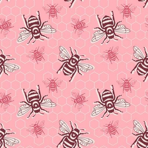 Smaller Bees - pink