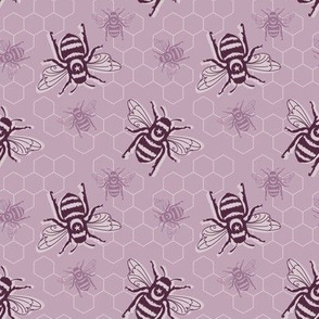 Smaller Bees - purple
