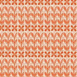 Petite Lino block flower // orange