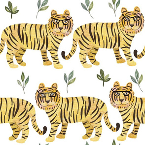"16"" Tigers - white"