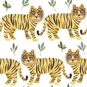 "8"" Tigers - white"