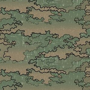 clouds military green
