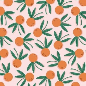 Citrus Pop Floral Small   Orange + Pink + Green