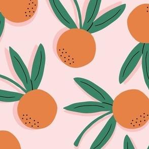 Citrus Pop Floral Large   Orange + Pink + Green