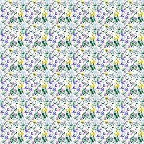 Wildflowers Pattern 1 White