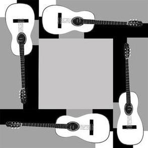 Guitars in Blocks Bl White Gray