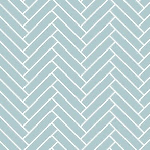 Herringbone Malibu blue and white pattern