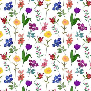 Spring Garden Chintz (Summer Floral Festival) - white