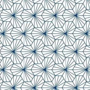 hexagonal tiles - midnight blue