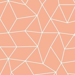 Abstract minimal geometric boho triangle raster basic neutral trend nursery coral apricot pink blush
