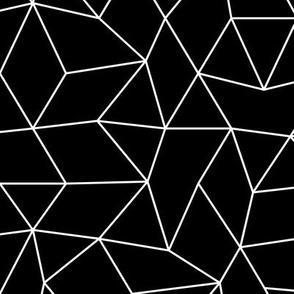 Abstract minimal geometric boho triangle raster basic neutral trend nursery monochrome black and white