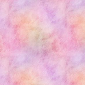 Pastel Apricot & Plum Watercolor