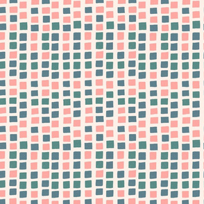 Pink, Turquoise and Checkered