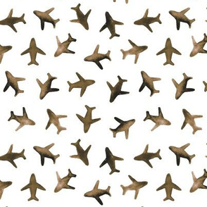 Earthy planes - boho around the world watercolor airplanes 279