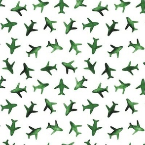 Jade green around the world watercolor airplanes p279