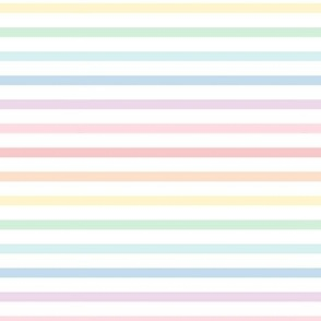 pastel rainbow stripes 1 horizontal XL - lighter